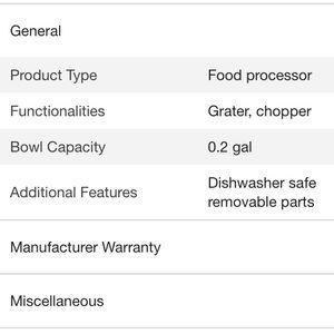 cuisinart Other - Cuisinart Mini-Prep Plus Processor. New in Box.